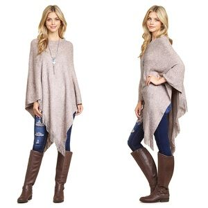 ❤️PREORDER Stunning and Warm! Mauve Poncho!